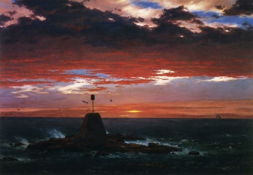 frederic edwin church beacon off mount desert island painting