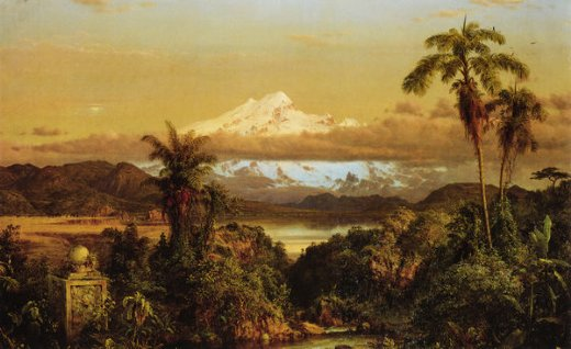 frederic edwin church cayambe paintings