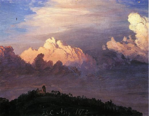 frederic edwin church clouds over olana painting