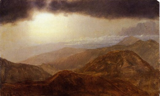 frederic edwin church storm in the mountains painting