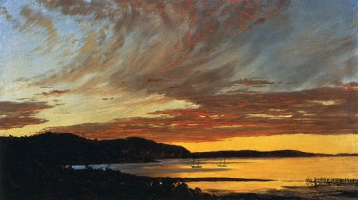 frederic edwin church sunset bar harbor painting