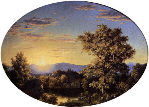 frederic edwin church twilight among the mountains oil painting