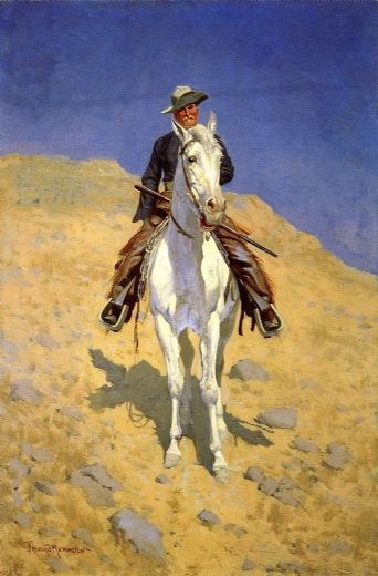 frederic remington self portrait on a horse paintings