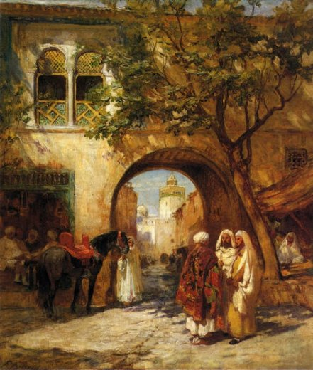 frederick arthur bridgeman by the city gate painting