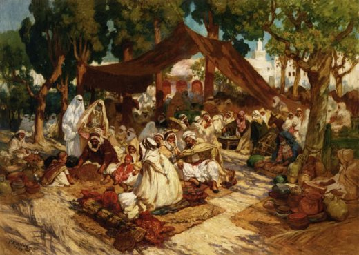 frederick arthur bridgeman north african market paintings