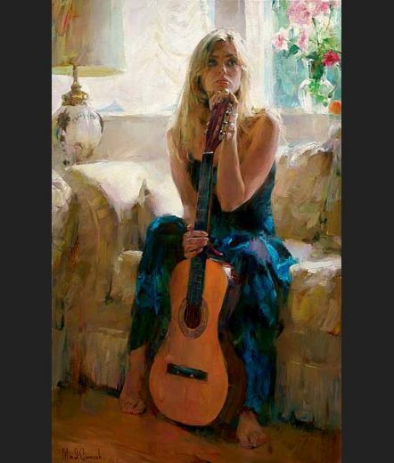 garmash guitar play painting