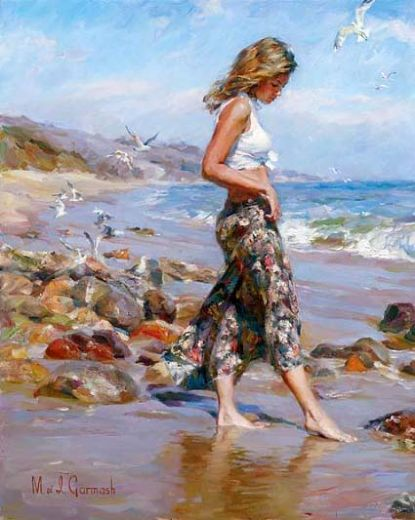 garmash toes in the sand painting