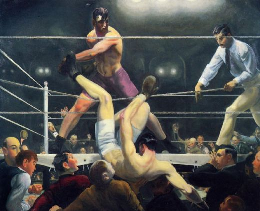 george bellows dempsey and firpo oil painting