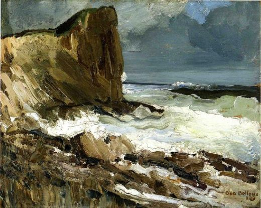 george bellows gull rock and whitehead oil painting