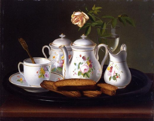 george forster still life of porcelain and biscuits paintings