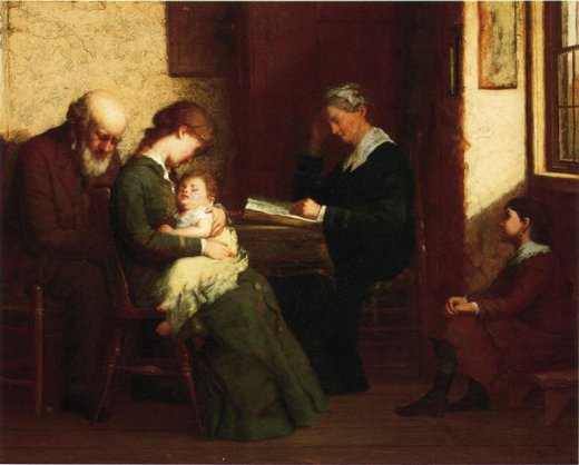 george henry story our father who art in heaven painting