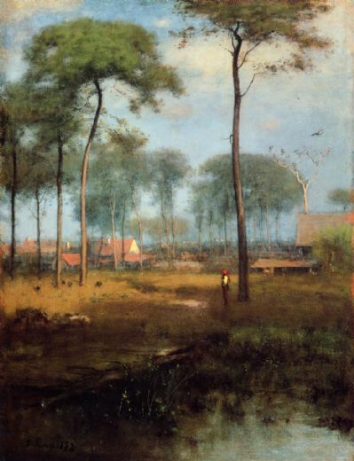 george inness early morning tarpon springs painting
