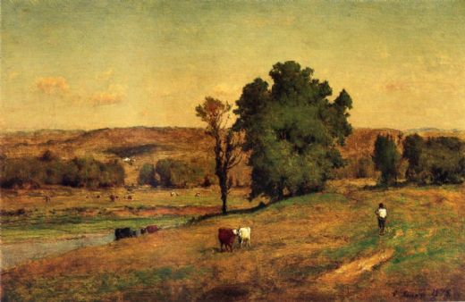 george inness landscape with figure paintings