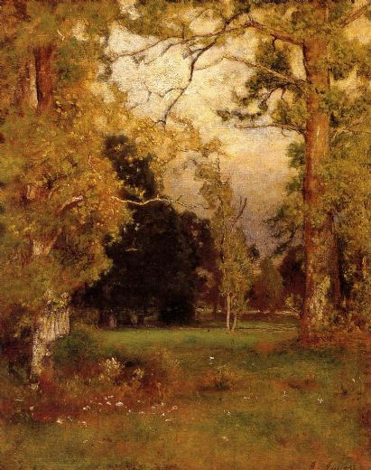 george inness late afternoon painting