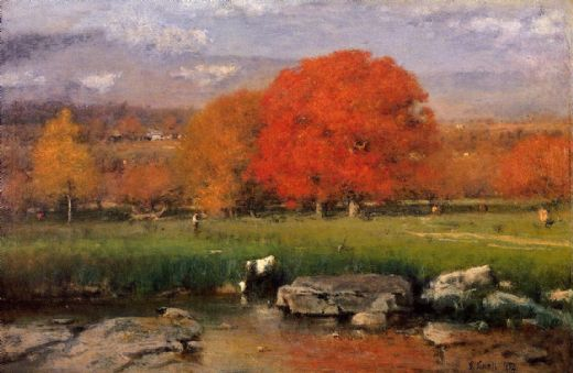 george inness morning catskill valley paintings