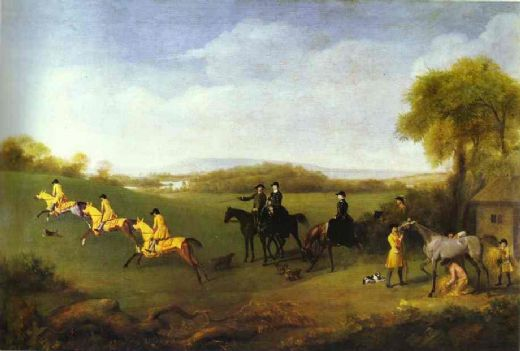 george stubbs racehorses belonging to the duke of richmond exercising at goodwood paintings