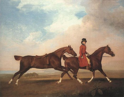 george stubbs william anderson with two saddle horses painting