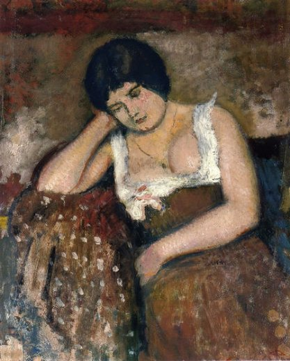 georges lemmen seated woman painting