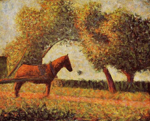 georges seurathorse Painting-33533