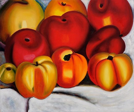 georgia o keeffe apple family ii painting