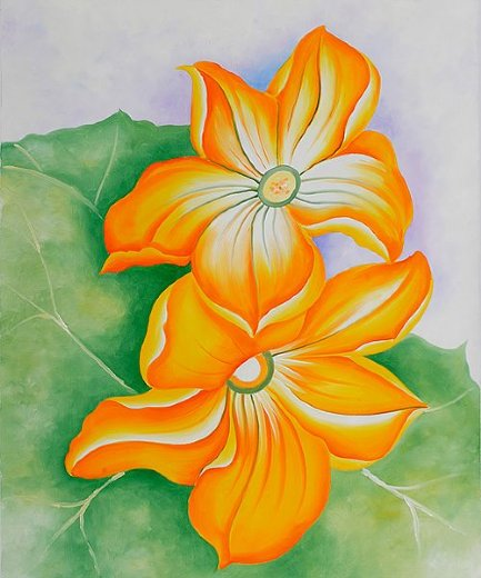 georgia o keeffe squash blossoms paintings