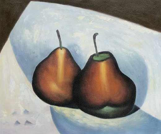 georgia o keeffe two pears paintings