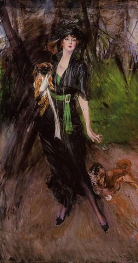 giovanni boldini portrait of a lady lina bilitis with two pekinese paintings