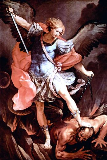 guido reni the archangel michael painting