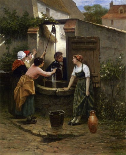 guillaume seignac by the well paintings