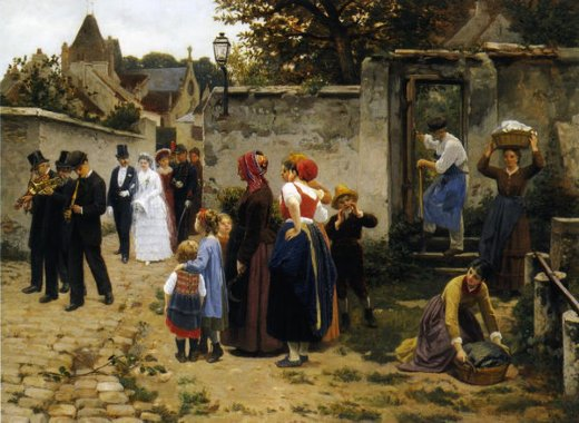 guillaume seignac the wedding procession paintings