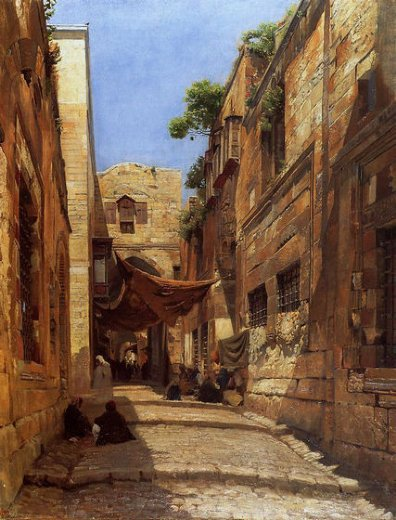 gustav bauernfeind david street in jerusalem prints