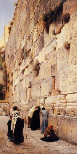 gustav bauernfeind the wailing wall jerusalem painting