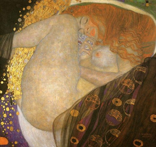 gustav klimt danae paintings