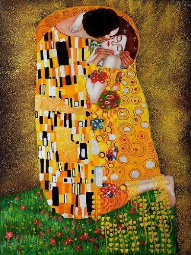 gustav klimt the kiss full view ii paintings