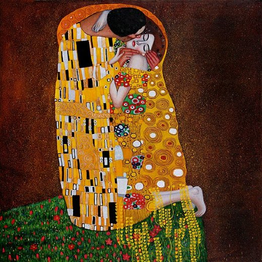 gustav klimt the kiss full view painting