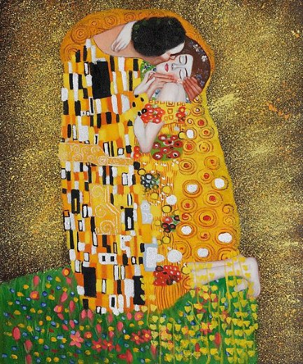 gustav klimt the kiss fullview paintings