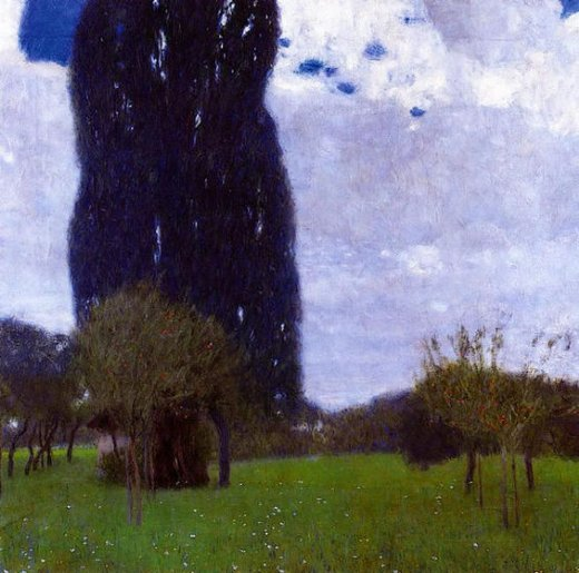 gustav klimt the tall poplar trees ii paintings