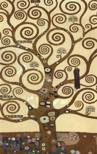gustav klimt the tree of life (gold foil) paintings