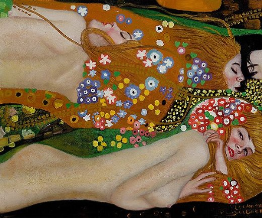 gustav klimt water serpents iii painting