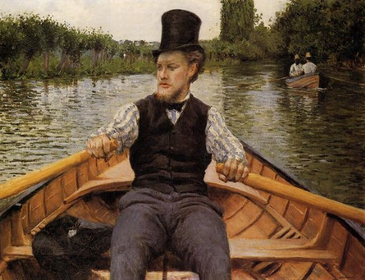 gustave caillebotte boating party paintings
