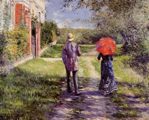 gustave caillebotte rising road paintings