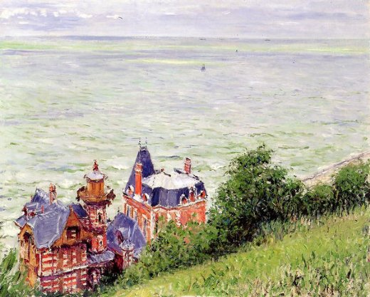 gustave caillebotte villas at trouville paintings