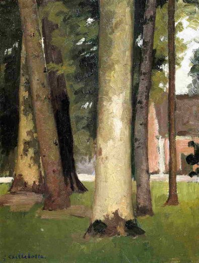gustave caillebotte yerres through the grove the ornamental farm painting
