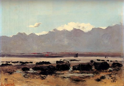 gustave courbet seascape near trouville paintings