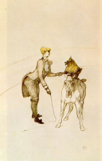 henri de toulouse lautrec at the circus the animal trainer paintings