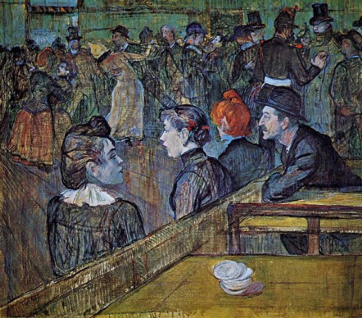 henri de toulouse lautrecat the moulin de la galette dance hall Painting-32501