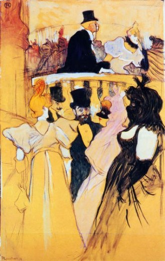 henri de toulouse lautrec at the opera ball painting