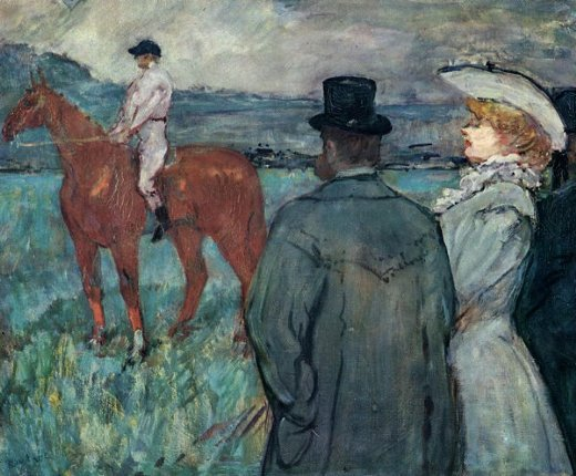 henri de toulouse lautrec at the races painting