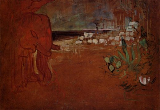 henri de toulouse lautrec indian decor painting