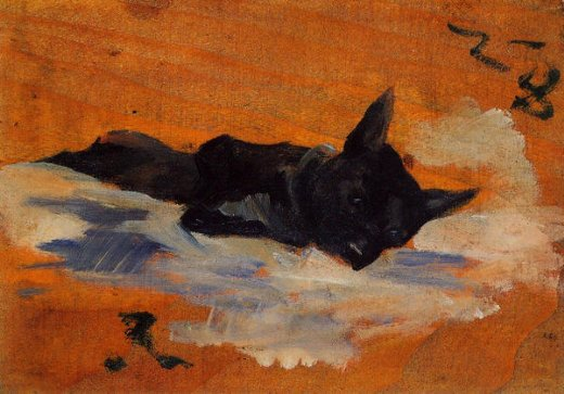henri de toulouse lautrec little dog painting